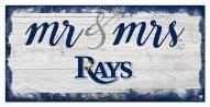 Tampa Bay Rays Script Mr. & Mrs. Sign