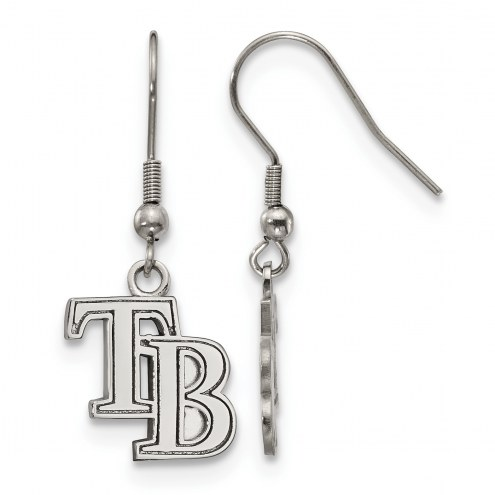 Tampa Bay Rays Stainless Steel Dangle Earrings