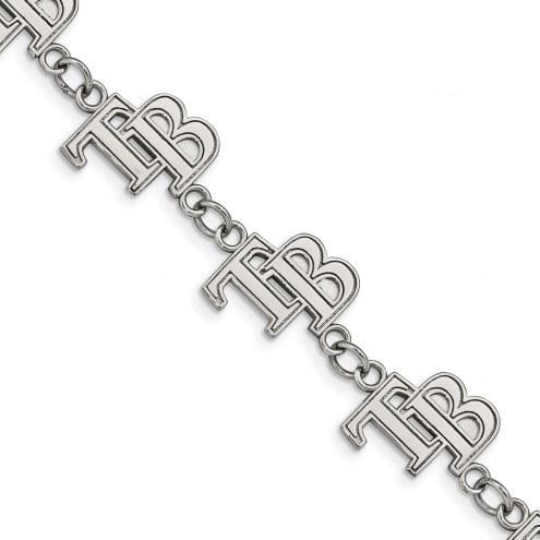 Tampa Bay Rays Stainless Steel Logo Bracelet