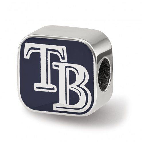 Tampa Bay Rays Sterling Silver Enameled Bead