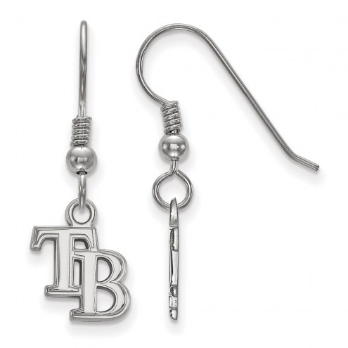 Tampa Bay Rays Sterling Silver Extra Small Dangle Earrings