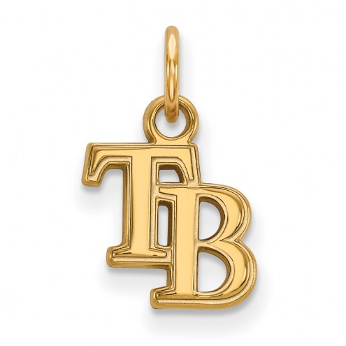 Tampa Bay Rays Sterling Silver Gold Plated Extra Small Pendant