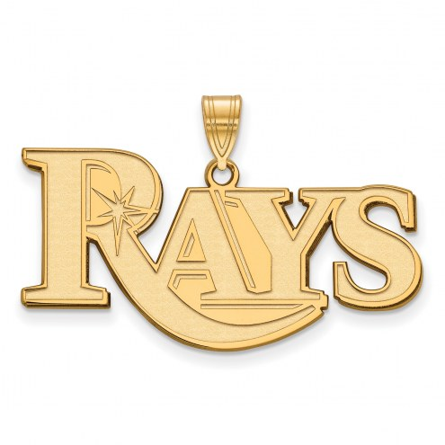 Tampa Bay Rays Sterling Silver Gold Plated Large Pendant