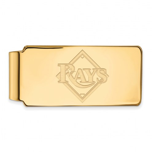 Tampa Bay Rays Sterling Silver Gold Plated Money Clip