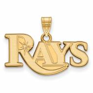 Tampa Bay Rays Sterling Silver Gold Plated Small Pendant