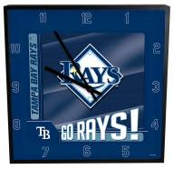 Tampa Bay Rays Team Black Square Clock