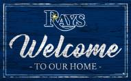 Tampa Bay Rays Team Color Welcome Sign