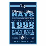 Tampa Bay Rays Established Wood Sign