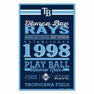 Tampa Bay Rays Established Wood Sign