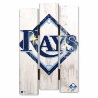Tampa Bay Rays Wood Fence Sign