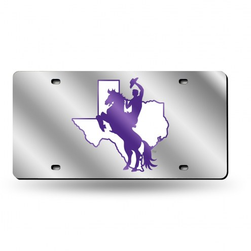 Tarleton State Texans Laser Cut License Plate