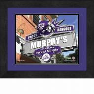 Texas Christian Horned Frogs 13 x 16 Personalized Framed Sports Pub Print