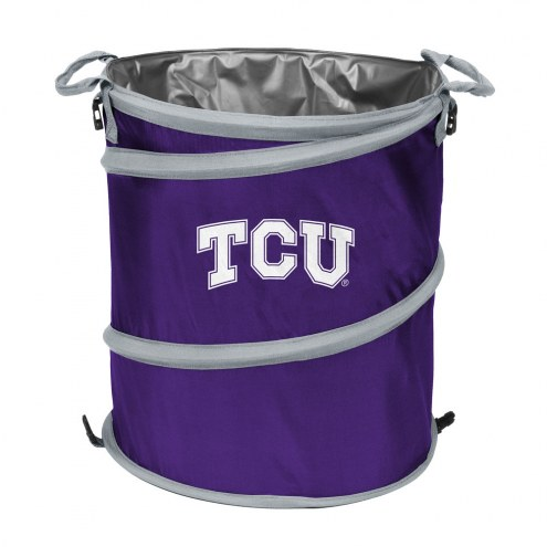 Texas Christian Horned Frogs Collapsible Laundry Hamper