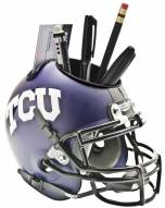 TCU Horned Frogs Matte Purple Schutt Football Helmet Desk Caddy