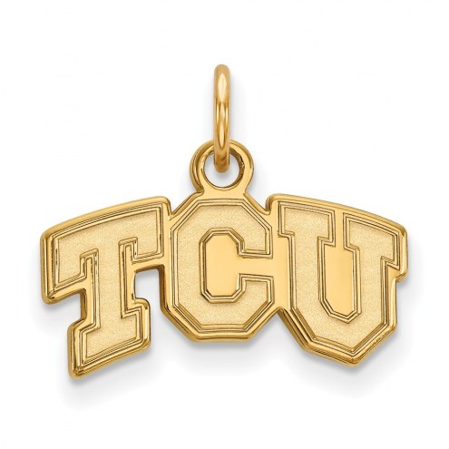Texas Christian Horned Frogs NCAA Sterling Silver Gold Plated Extra Small Pendant