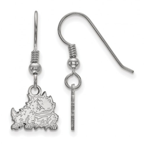 Texas Christian Horned Frogs Sterling Silver Extra Small Dangle Earrings