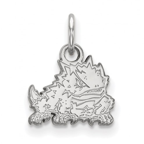 Texas Christian Horned Frogs Sterling Silver Extra Small Pendant