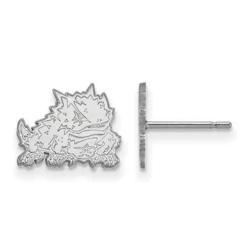 Texas Christian Horned Frogs Sterling Silver Extra Small Post Earrings