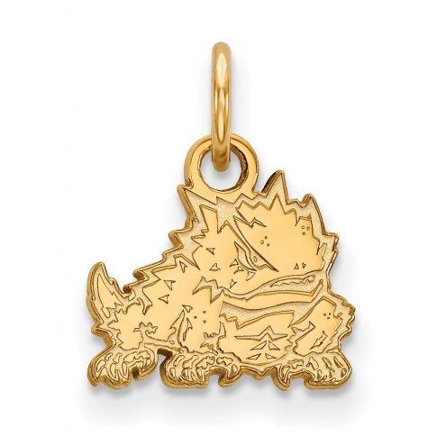Texas Christian Horned Frogs Sterling Silver Gold Plated Extra Small Pendant