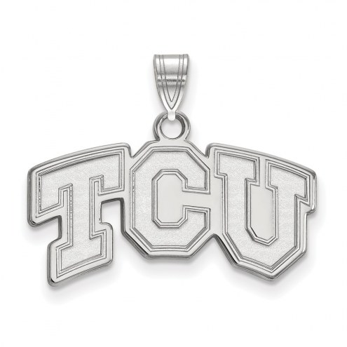 Texas Christian Horned Frogs Sterling Silver Small Pendant