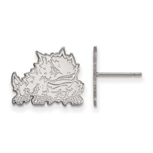 Texas Christian Horned Frogs Sterling Silver Small Post Earrings