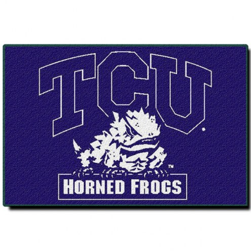 """TCU Horned Frogs 20"""" x 30"""" Tufted Rug"""