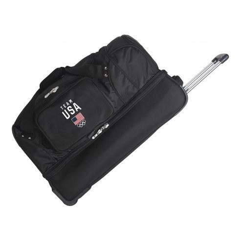"""Team USA 27"""" Drop Bottom Wheeled Duffle Bag"""