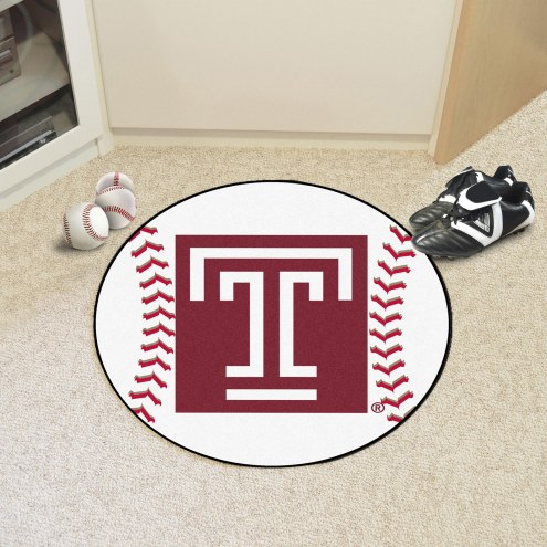 Temple Owls Baseball Rug