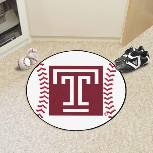 Temple Owls Baseball Rug