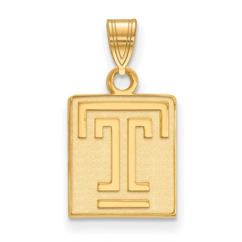 Temple Owls NCAA Sterling Silver Gold Plated Small Pendant