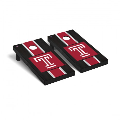 Temple Owls Onyx Stained Cornhole Game Set