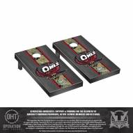 Temple Owls Operation Hat Trick Onyx Stained Cornhole Game Set
