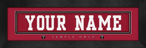 Temple Owls Personalized Stitched Jersey Print