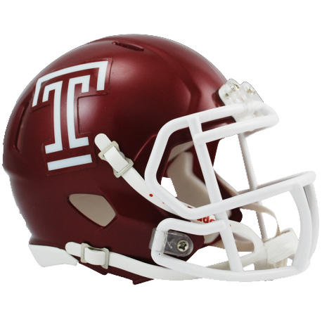 Temple Owls Riddell Speed Mini Collectible Football Helmet