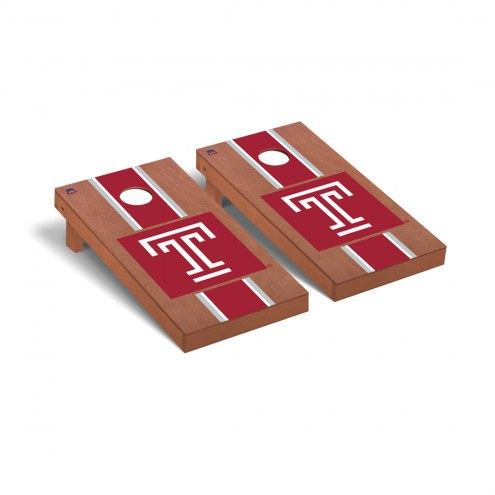 Temple Owls Rosewood Stained Cornhole Game Set