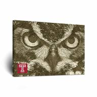 Temple Owls Sketch Canvas Wall Art