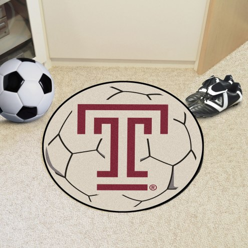 Temple Owls Soccer Ball Mat