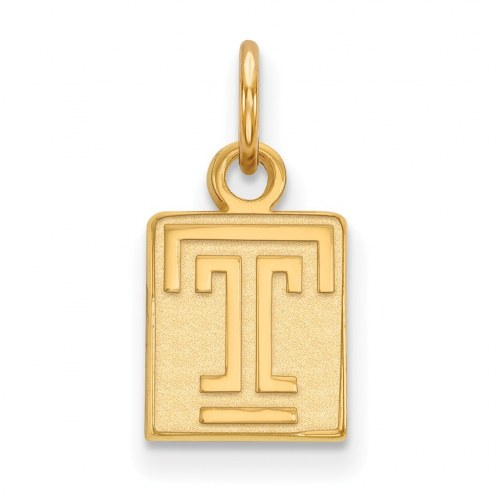 Temple Owls Sterling Silver Gold Plated Extra Small Pendant
