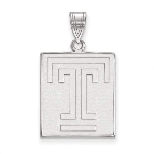 Temple Owls Sterling Silver Large Pendant