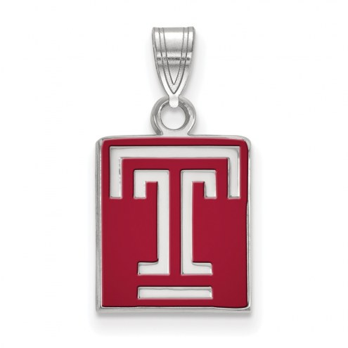 Temple Owls Sterling Silver Small Enamel Pendant