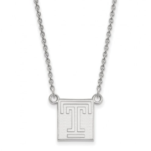 Temple Owls Sterling Silver Small Pendant Necklace