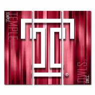Temple Owls Triptych Rush Canvas Wall Art