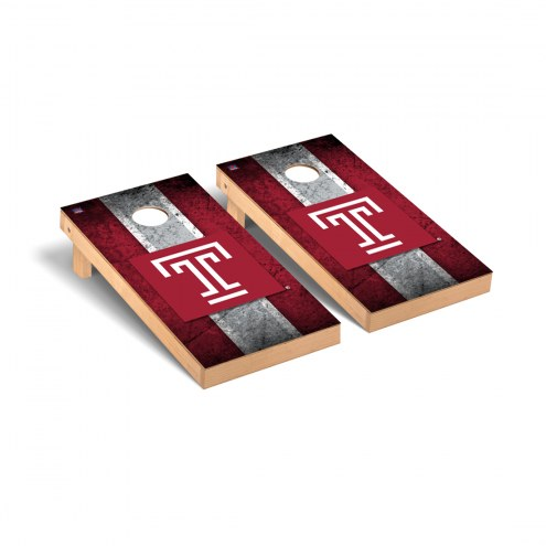 Temple Owls Vintage Cornhole Game Set
