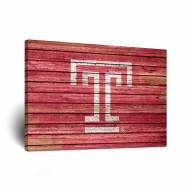 Temple Owls Weathered Canvas Wall Art