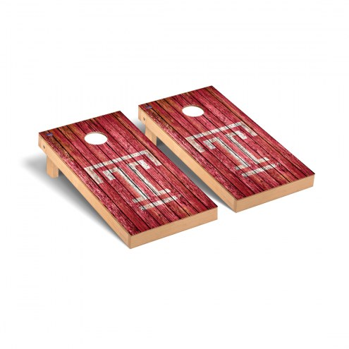Temple Owls Weathered Cornhole Game Set