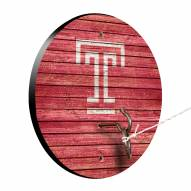 Temple Owls Weathered Design Hook & Ring Game