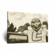 Tennessee Chattanooga Mocs Sketch Canvas Wall Art