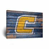 Tennessee Chattanooga Mocs Weathered Canvas Wall Art