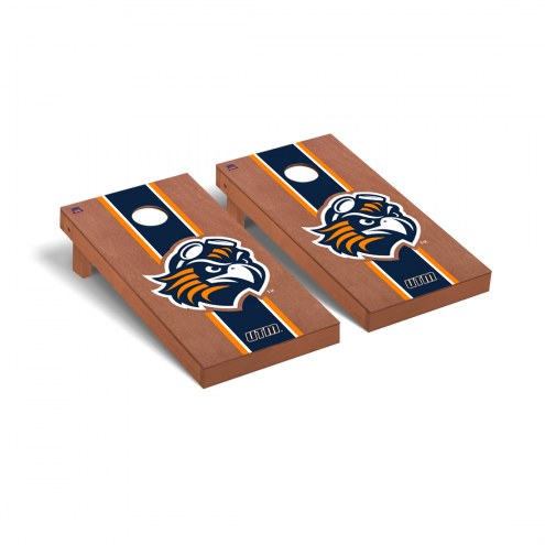 Tennessee-Martin Skyhawks Rosewood Stained Stripe Cornhole Game Set