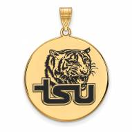 Tennessee State Tigers Sterling Silver Gold Plated Extra Large Enameled Disc Pendant